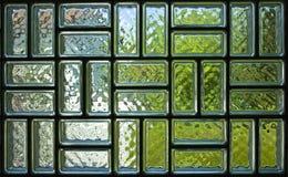 Текстура панели стеклянного кирпича Стоковые Фото