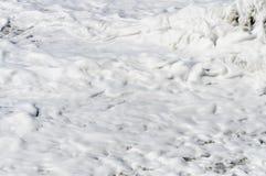Текстура пены моря Стоковая Фотография