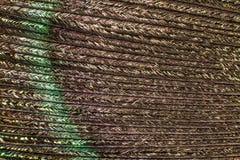 Текстура пера павлина Стоковая Фотография