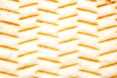 Текстура перевернутой стороны печенья прокладки Стоковое Изображение RF