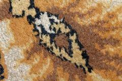 Текстура персидского ковра, абстрактный орнамент макроса Ближневосточная традиционная предпосылка ткани ковра Стоковое фото RF
