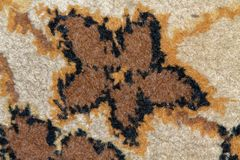 Текстура персидского ковра, абстрактный орнамент макроса Ближневосточная традиционная предпосылка ткани ковра Стоковая Фотография RF