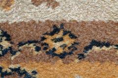Текстура персидского ковра, абстрактный орнамент макроса Ближневосточная традиционная предпосылка ткани ковра Стоковые Фото
