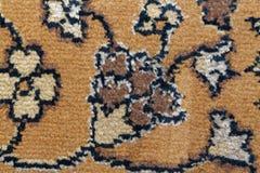 Текстура персидского ковра, абстрактный орнамент макроса Ближневосточная традиционная предпосылка ткани ковра Стоковое Изображение