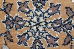 Текстура персидского ковра, абстрактный орнамент макроса Ближневосточная традиционная предпосылка ткани ковра Стоковые Изображения