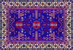 Текстура персидского ковра, абстрактный орнамент Круглая картина мандалы, восточная традиционная поверхность ковра Maroon o бирюз Стоковые Изображения