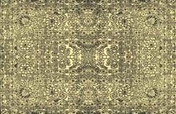 Текстура персидского ковра, абстрактный орнамент Круглая картина мандалы, ближневосточная традиционная текстура ткани ковра Молок Стоковые Изображения