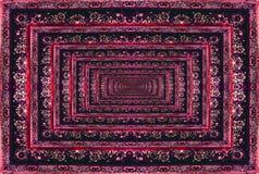 Текстура персидского ковра, абстрактный орнамент Круглая картина мандалы Стоковая Фотография RF
