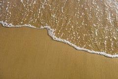 Текстура песка и волны Стоковое фото RF