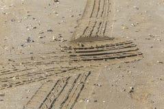 Текстура песка пляжа после дождя Стоковое Изображение RF