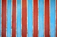 Текстура пестротканых деревянных доск загородки Старая красочная предпосылка стены Стоковая Фотография RF