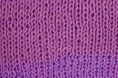 текстура пинка knit ткани предпосылки шерстяная Стоковое Фото