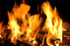 текстура пламени пожара Стоковые Фотографии RF