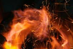 текстура пламени пожара Стоковые Фото