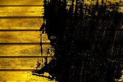 Текстура планки деревянной скамьи Grunge ультра желтая для вебсайта или мобильных устройств, элемента дизайна Стоковая Фотография