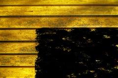 Текстура планки деревянной скамьи Grunge ультра желтая для вебсайта или мобильных устройств, элемента дизайна Стоковые Изображения RF