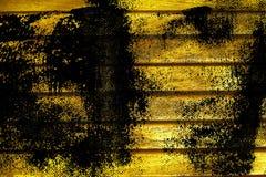 Текстура планки деревянной скамьи Grunge ультра желтая для вебсайта или мобильных устройств, элемента дизайна Стоковые Изображения