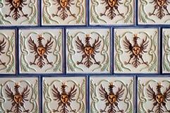 Текстура плитки красивой площади белой керамической с картинами I стоковое фото