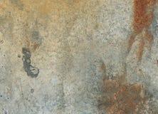 Текстура поверхности металла с трассировками ржавчины Стоковая Фотография RF