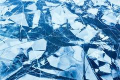 Текстура поверхности льда, ледяного поля Стоковые Изображения