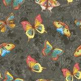 текстура покрашенная бабочками Стоковые Фото
