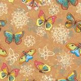 текстура покрашенная бабочками Стоковые Фотографии RF