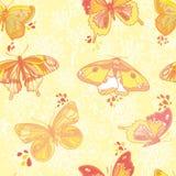 текстура покрашенная бабочками Стоковая Фотография RF