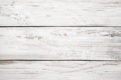 Текстура покрашенная белизной деревянная Стоковая Фотография RF