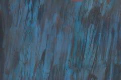Текстура покрашенного утюга Голубые пятна, пятна ржавчины Стоковые Изображения