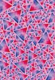 Текстура покрашенных треугольников Стоковое Фото