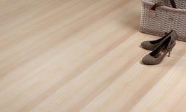 текстура пола деревянная Стоковая Фотография RF