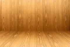Текстура пола teak деревянных и предпосылки обоев Стоковая Фотография