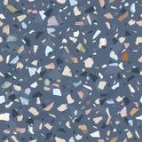 Текстура пола terrazzo гранита каменная Абстрактная предпосылка, безшовная картина Бесплатная Иллюстрация