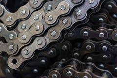 Текстура пользы цепей ролика для предпосылки Стоковые Фотографии RF