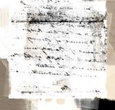 Текстура почерка год сбора винограда Стоковое Изображение RF