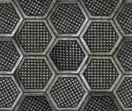Текстура пола фабрики литого железа шестиугольная Стоковые Изображения RF