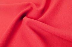 Текстура, предпосылка, картина Красная ткань абстрактный красный цвет предпосылки Стоковая Фотография
