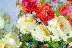 Текстура, предпосылка Картина на холсте покрашенном с красками масла стоковое изображение