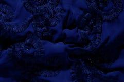 Текстура, предпосылка, картина С зашитыми картинами bluets Silk cha стоковые изображения rf