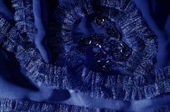 Текстура, предпосылка, картина С зашитыми картинами bluets Silk cha стоковое фото rf