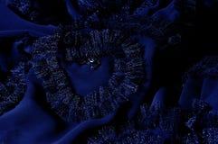 Текстура, предпосылка, картина С зашитыми картинами bluets Silk cha стоковые фотографии rf