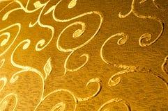 Текстура, предпосылка, картина Ткань штофа с сияющими картинами Стоковая Фотография RF