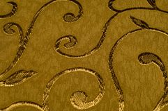 Текстура, предпосылка, картина Ткань штофа с сияющими картинами Стоковое фото RF