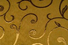 Текстура, предпосылка, картина Ткань штофа с сияющими картинами Стоковая Фотография