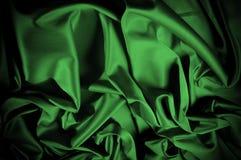 Текстура, предпосылка, картина Шелк ткани темные ые-зелен выразьте стоковое изображение rf