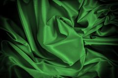 Текстура, предпосылка, картина Шелк ткани темные ые-зелен выразьте стоковое фото rf