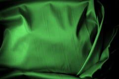 Текстура, предпосылка, картина Шелк ткани темные ые-зелен выразьте стоковые изображения rf