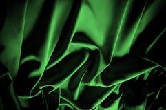 Текстура, предпосылка, картина Шелк ткани темные ые-зелен выразьте стоковые фотографии rf