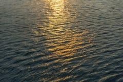 Текстура предпосылки воды захода солнца стоковая фотография