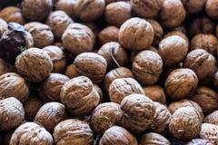 Текстура предпосылки грецкого ореха стоковая фотография